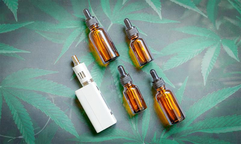 Medical marijuana treatment concept